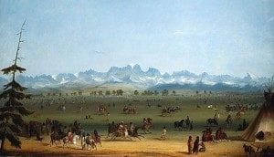 Alfred Jacob Miller painting of the Green River Rendezvous