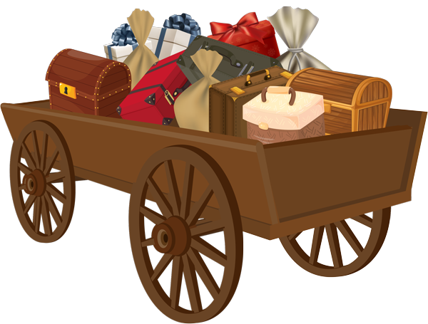 wagon full of goods